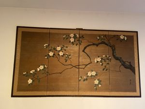 Antique Four Panel Silk Screen for Sale in Dallas, TX