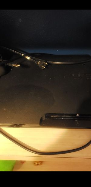 Ps3 with 2 controllers with 2 games for Sale in Kissimmee, FL