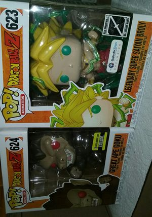 great ape goku entertainment earth exclusive/ legendary super saiyan broly galactic toys exclusive dragonball z funko pop for Sale in Los Angeles, CA