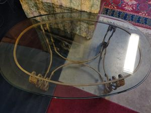Center Table: Antique very sturdy/ Heavy thick Glass $200 for Sale in Seattle, WA