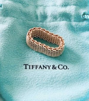 Sterling silver authentic Tiffany & Co. mesh ring. for Sale in Sanford, FL