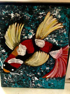 Koi fish canvas for Sale in Cranston, RI