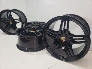 """19"""" Porsche 911 Turbo wheels black for Sale in Solana Beach, CA"""