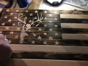 Wooden deer flag for Sale in Pittsburgh, PA
