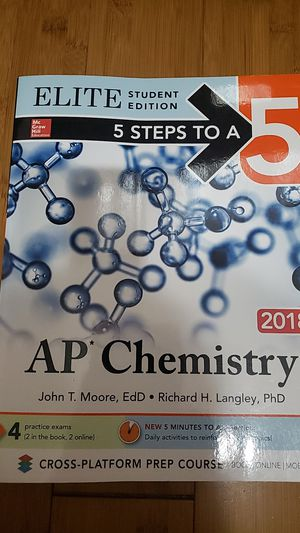 5 Steps to a 5 AP Chemistry 2018 Editiob for Sale in Ontario, CA