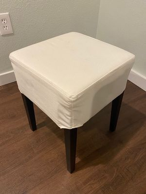 Crate&barrel basics small white chair/stool for Sale in Boulder, CO