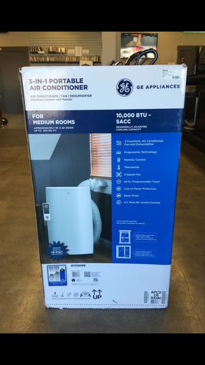 GE 3-in-1 Portable 10,000 BTU Air Conditioner/Fan/Dehumidifier. BRAND NEW. Cash Only for Sale in Lakewood, WA
