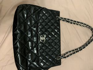 Chanel patent leather double strap flap shoulder bag for Sale in Duluth, GA