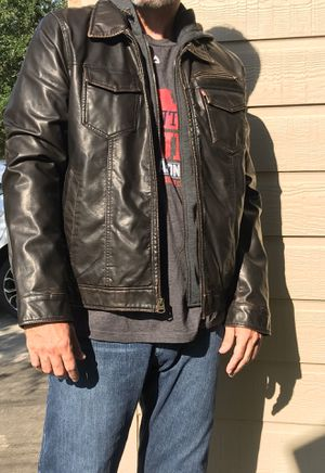 Levi Dark Brown Jacket w/ Hoodie Large Like New / Never Worn for Sale in Houston, TX