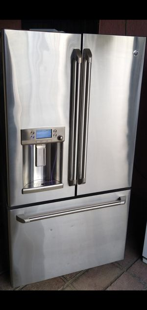 G.E 3 Door Stainless Steel Refrigerator for Sale in Bakersfield, CA