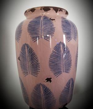 Pink & Blue Exposed Ceramic Vase for Sale in Washington, DC