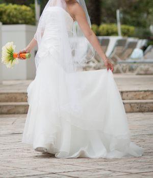 Mikaela off white wedding dress size 8 for Sale in Cambridge, MA