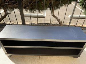 "TV stand (black wood) 60"" for Sale in Cerritos, CA"