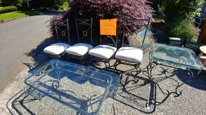 $25 per item or make offer for full set Dining furniture (more photos soon) —indoor or outdoor for Sale in Kirkland, WA