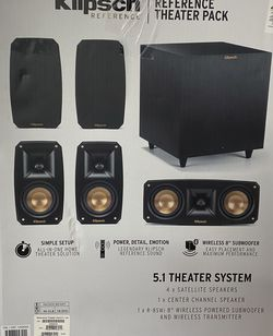 Klipsch Reference Theater Pack 5.1 CH Surround Sound System Speakers Subwoofer for Sale in Coopersburg,  PA