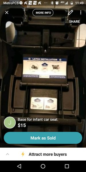 Baby car seat latch for Sale in Lubbock, TX