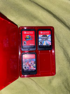 Mario Odyssey, Super Mario Party and Mario Kart for Sale in Los Angeles, CA