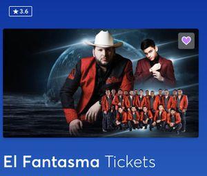 El Fantasma tickets Oracle Arena for Sale in Concord, CA