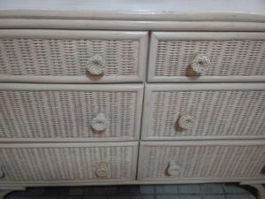 Rattan Collection Set With Mirror for Sale in Bartow, FL