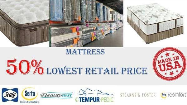 NEW Serta King Euro Pillow top Mattress