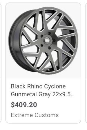 Black rhino rims and tires for Sale in Gilroy, CA