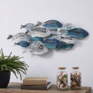 Metal Wall Art Modern School Fish Decor Hang Home Office Decorate for Sale in Marquette, MI