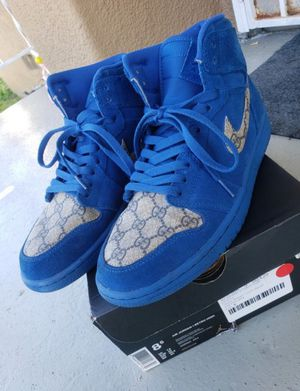 Custom Guccci Retro High Royal Blue Suede 1s size 8.5 for Sale in Los Angeles, CA