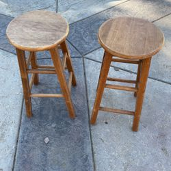 Two Wood Bar Stool for Sale in Valley Center,  CA