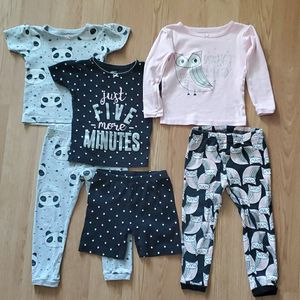 Toddler Girls 6- Piece Snug Fit Cotton Pajama Set by Carters for Sale in New Lenox, IL