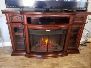 Space Saver TV Stand with Electric fireplace for Sale in Santa Maria, CA