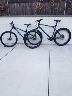 2 X Gt Mountain Bike Size Small And Large Wheels 27.5 Speeds 24 for Sale in Pasadena,  CA