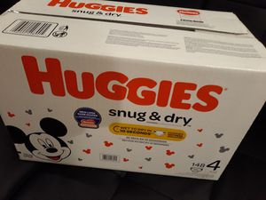 Huggies Snug & dry Diapers size 4 $32 firm (Offers will be ignored) for Sale in Vallejo, CA