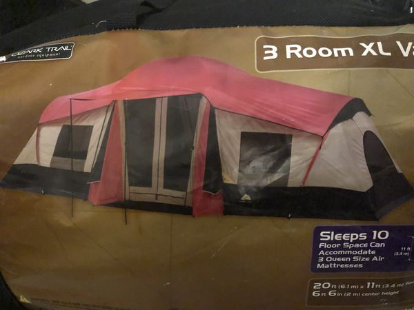 3 room tent sleeps 10+