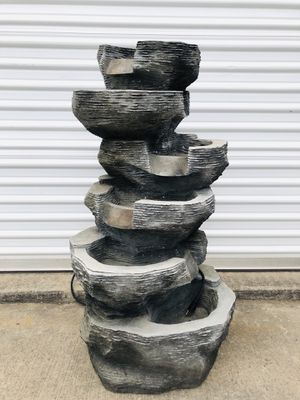 """39"""" Outdoor 6 -Tier Bowls Waterfall Fountain With LED Lights for Sale in Arlington, TX"""