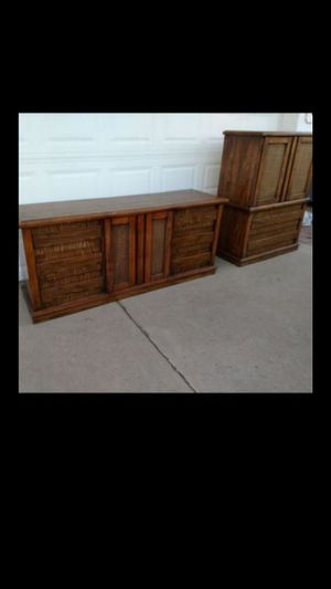 9 drawer dresser with matching armoire for Sale in Phoenix, AZ