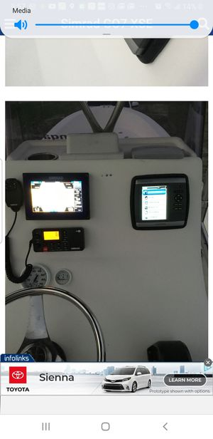 Garmin 540s gps fishfinder with transducer, working perfect was removed today for Sale in Orlando, FL