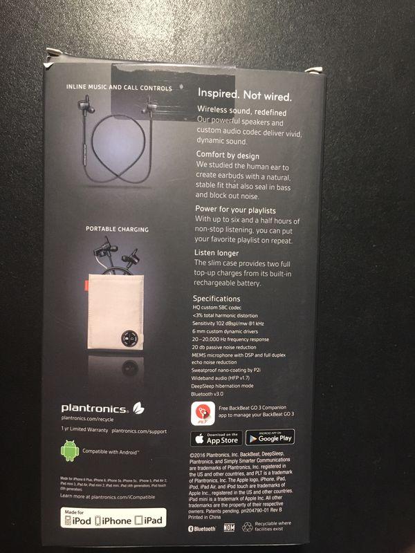 BackBeat GO 3 Bluetooth Sweatproof Earbuds
