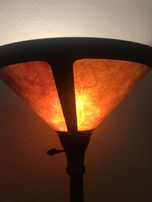 Tall Lamp Orange Shade for Sale in Santee, CA