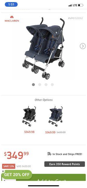 Maclaren double twin stroller for Sale in Brooklyn, NY