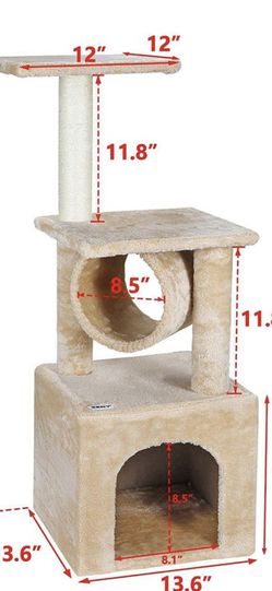 36'' Cat Trees for Kittens Cat Furniture Towers with Scratching Posts, Double Perches for Sale in Westminster,  CA