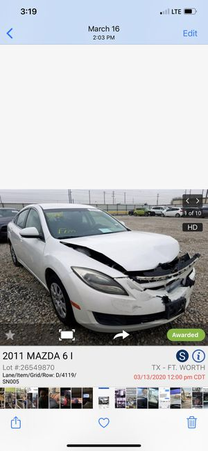 2009 Mazda 6 parting out for Sale in Balch Springs, TX