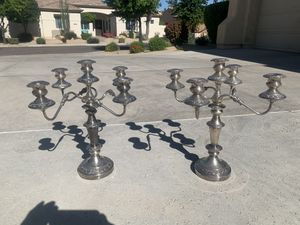 Silver plate Candelabras for Sale in Goodyear, AZ