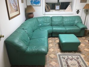 L-shaped sectional sofa And ottoman, free for Sale in Swanton, MD