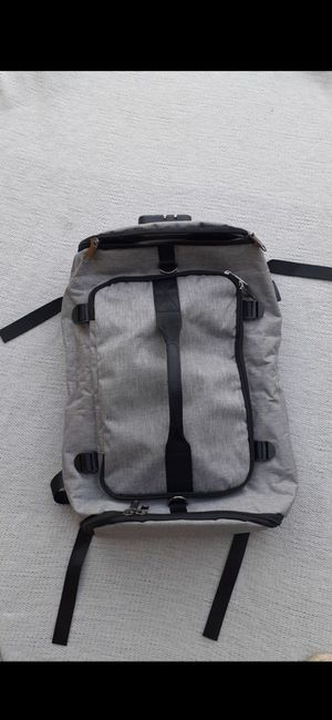 Brand new duffle bag backpack. Very spacey for hiking or picnics or park has combination on top good material for Sale in San Bernardino, CA