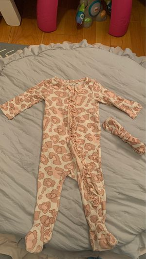 Jessica Simpson pink leopard onesie with matching headband for Sale in Santa Ana, CA