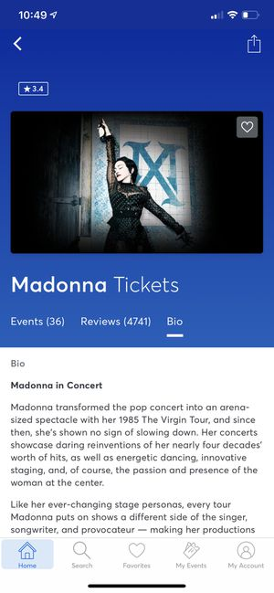 Tickets Madonna concert Oct 24th 10:30pm for Sale in Chicago, IL