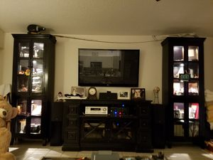 Enclosed book cases that are lighted with dimmable lights for Sale in Palm Beach Gardens, FL