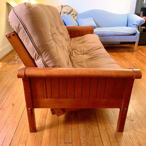 Queen sized wooden futon for Sale in Norfolk, VA