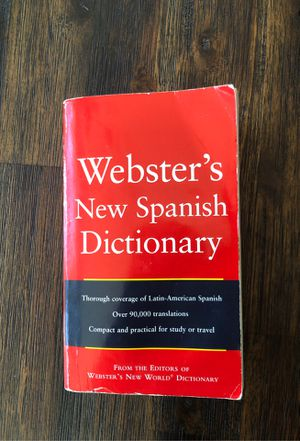Webster's New Spanish Dictionary for Sale in Catonsville, MD