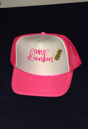 Day drinking trucker hat pink for Sale in Chula Vista, CA
